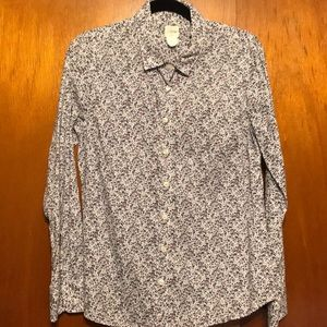JCrew floral button down shirt
